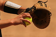 Softball Art - Recoiling into a Throw by Laddie Halupa
