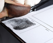 Forensic Art - Recording Thumbprint by Mauro Fermariello