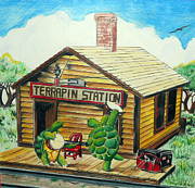 Hippie Mixed Media Posters - Recreation of Terrapin Station album cover by The Grateful Dead Poster by Ben Jackson