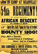 Black Man Prints - Recruiting Poster, 1863 Print by Photo Researchers
