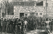 Confederacy Framed Prints - Recruitment Station New York City, 1861 Framed Print by Photo Researchers
