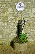 Rectory Posters - Rectory Mansion and Hand Pump - Brading Poster by Rod Johnson