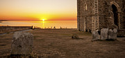 Church Ruins Photos - Reculver Sunset by Dawn OConnor