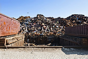 Metal Sheet Prints - Recycle Dump Site Or Yard For Steel Print by Corepics