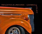 Chevy Truck Posters - ReCycle Poster by Kevin  Sherf