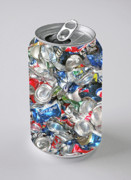 Empty Beer Cans Prints - Recycled Print by Jon Blumenaus