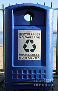 Recycle Prints - Recycling Bin Print by Photo Researchers, Inc.