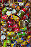 Compressed Framed Prints - Recycling cans Framed Print by Carlos Caetano