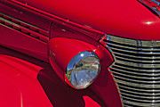Chevy Coupe Prints - Red 1938 Chevy Coupe Print by Garry Gay