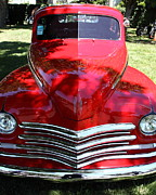 Sportscar Photos - Red 1948 Plymouth Hotrod . 5D16445 by Wingsdomain Art and Photography