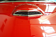 Transportation Art - Red 1955 Ford Thunderbird . Hood View by Wingsdomain Art and Photography