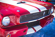 Photographers Fine Art Prints - Red 1966 Ford Mustang Shelby Front Close Print by James Bo Insogna