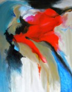 Free Form Painting Prints - Red Abstract Print by Jamie Frier