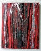 Signed Originals - Red Abstract by Laura Miller