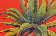 Arizona Memories Paintings - Red Agave by Nancy Matus