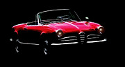 Oldtimer Metal Prints - Red Alfa Romeo 1600 Giulia Spider Metal Print by Stefan Kuhn
