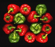 Detoxification Prints - Red And Green Peppers Print by Victor De Schwanberg
