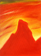 Semi Abstract Originals - Red and Orange by Hakon Soreide