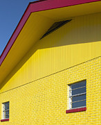 Roofline Prints - Red And Yellow House Print by Skip Nall