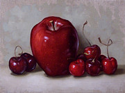 Clinton Hobart - Red Apple and Cherries