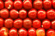 Food And Beverage Photo Originals - Red Apples by Mia Alexander