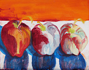 Suzanne Willis Metal Prints - Red Apples Metal Print by Suzanne Willis