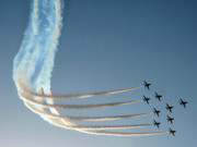 Arabia Photos - Red Arrows - 1 by Graham Taylor