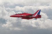 Hawk Digital Art - Red Arrows - Hawk by Pat Speirs