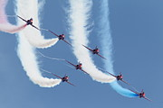 Raf Framed Prints - Red Arrows - Formation Magic Framed Print by Pat Speirs