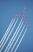 Lowestoft Framed Prints - Red Arrows in action Framed Print by Paul Cowan