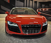 Supercars Photos - Red Audi R8 Seattle Auto Show 2011 by Ronda Broatch