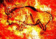 Prehistoric Paintings - Red Auroch by Angela Treat Lyon