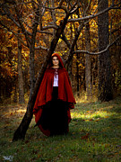 Fantasy Photos - Red Autumn Girl by Alana  Schmitt