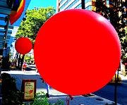 Red Balloons Prints - Red Balloon 1 Print by Randall Weidner