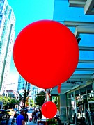 Red Balloons Prints - Red Balloon 2 Print by Randall Weidner