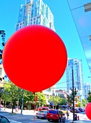 Red Balloons Prints - Red Balloon 3 Print by Randall Weidner