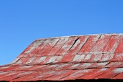 KayeCee Spain - Red Barn And Blue Sky- Fine Art
