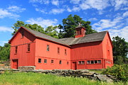 William Bryant Prints - Red Barn at Bryant Homestead Print by John Burk