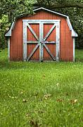 Barn Door Posters - Red Barn Poster by Dustin K Ryan