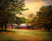 Autumn Scene Photos - Red Barn by Jai Johnson