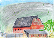 Red Barn Print by John Hoppy Hopkins
