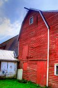 Photo-realism Photos - Red Barn by Robert Pearson