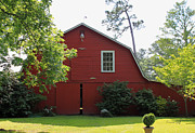 Farm Building Prints - Red Barn Print by Suzanne Gaff