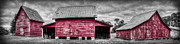 Windsor Prints - Red Barns at Windsor Castle Print by Williams-Cairns Photography LLC