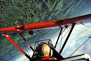 Stearman Framed Prints - Red Barron Framed Print by Bryan Allen