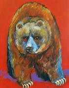 Grizzly Bear Paintings - Red Bear Grizzly Bear by Carol Suzanne Niebuhr