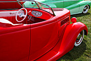 Jalopy Photos - Red beautiful car by Garry Gay