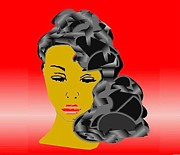 African-american Digital Art - Red Beauty by Belinda Threeths