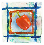 Red Art Prints - Red Bell Pepper Print by Igor Kislev