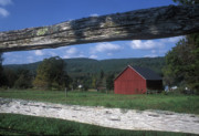 Berkshires Prints - Red Berkshires Barn Tyringham Print by John Burk